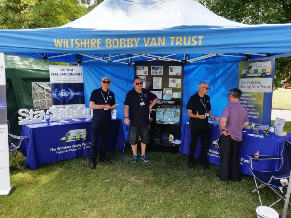 BV team at Wellbeing day Devizes 2018